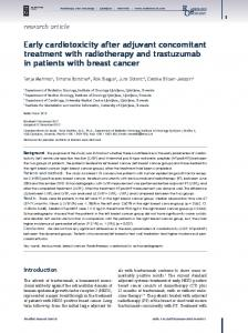 Early cardiotoxicity after adjuvant concomitant treatment with ... - Sciendo