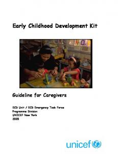 Early Childhood Development Kit - Guideline for Caregivers