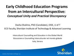 Early Childhood Education Programs from an ...
