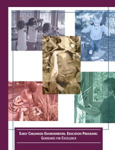 Early Childhood Environmental Education Programs: Guidelines for ...