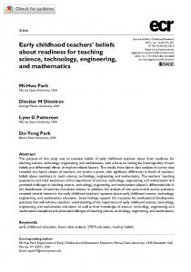 Early childhood teachers' beliefs about readiness for