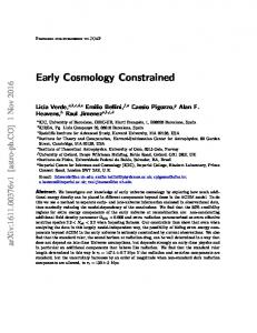 Early Cosmology Constrained - arXiv