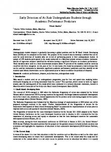 Early Detection of At-Risk Undergraduate Students through ... - Eric