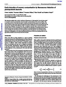 Early detection of mercury contamination by ...
