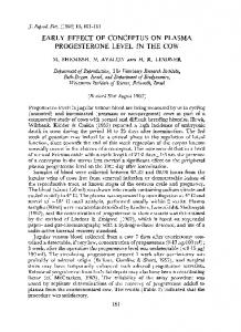 EARLY EFFECT OF CONCEPTUS ON PLASMA ... - Reproduction