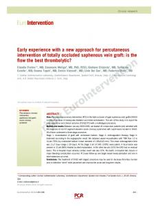 Early experience with a new approach for percutaneous intervention ...