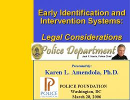 Early Identification and Intervention Systems: Legal Considerations