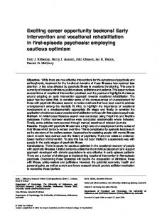 Early intervention and vocational rehabilitation ... - Wiley Online Library