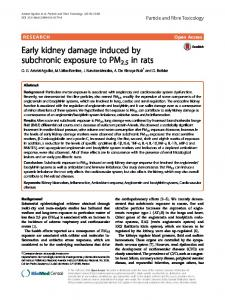 Early kidney damage induced by subchronic exposure to PM2 ... - Core