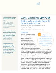 Early Learning Left Out - Build Initiative