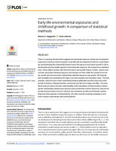 Early-life environmental exposures and childhood growth - PLOS