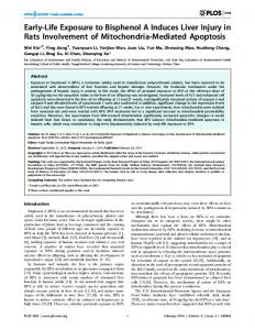 Early-Life Exposure to Bisphenol A Induces Liver Injury in Rats ... - PLOS