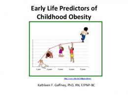 Early Life Predictors of Childhood Obesity