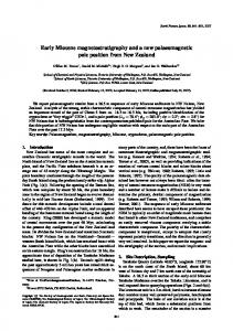 Early Miocene magnetostratigraphy and a new ... - terrapub