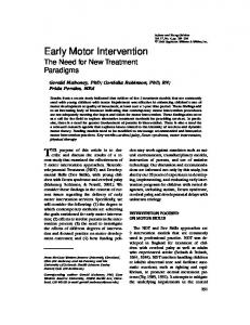 Early Motor Intervention