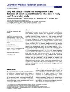 Early MRI versus conventional management in ... - Wiley Online Library