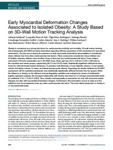 Early Myocardial Deformation Changes ... - Wiley Online Library