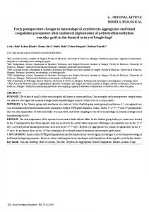 Early postoperative changes in hematological, erythrocyte ... - Scielo.br
