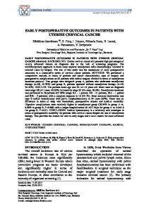 early postoperative outcomes in patients with uterine cervical cancer