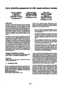 Early reliability assessment of UML based software ... - Semantic Scholar