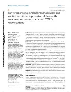 early response to inhaled bronchodilators and ...