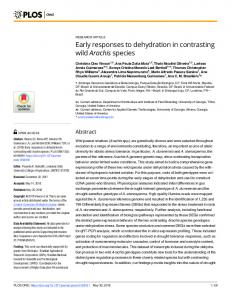 Early responses to dehydration in contrasting wild Arachis ... - PLOS