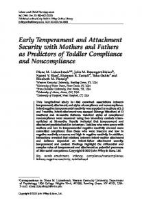 Early Temperament and Attachment Security ... - Wiley Online Library