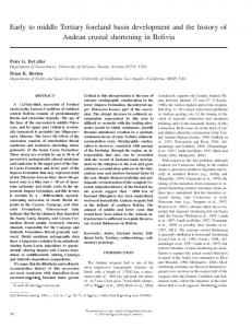 Early to middle Tertiary foreland basin development ... - GSA Journals