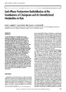 Early.Phase Postmortem Redistribution of the Enantiomers of ...
