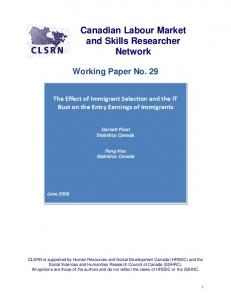 Earnings Inequality and Earnings Istability of Immigrants in Canada