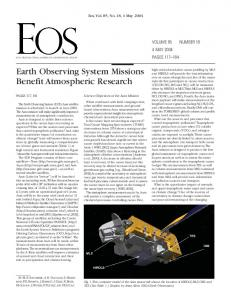 Earth Observing System Missions Benefit Atmospheric ... - NASA Aura