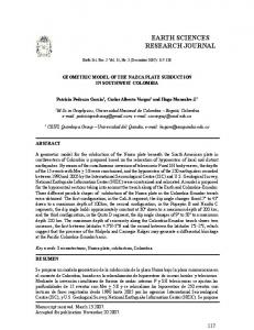 earth sciences research journal - SciELO Colombia