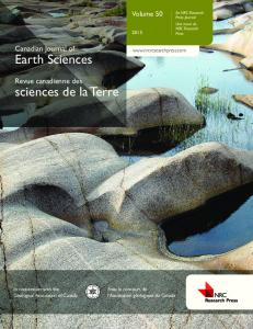 Earth Sciences sciences de la Terre