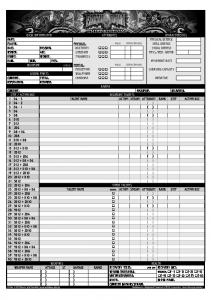 Earthdawn 3rd Edition - Character Sheet