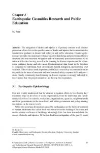 Earthquake Casualties Research and Public Education - Springer Link