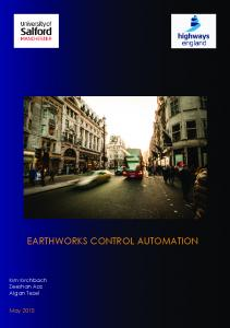 EARTHWORKS CONTROL AUTOMATION
