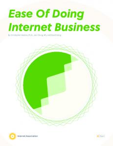 Ease Of Doing Internet Business - Internet Association