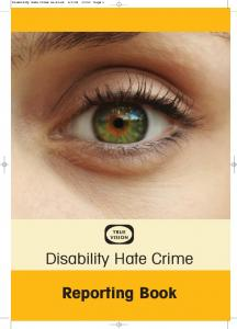 Easy-Read Disability Hate Crime
