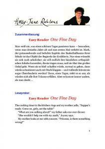 Easy Reader One Fine Day Easy Reader One Fine Day - Holly-Jane ...