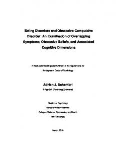 Eating Disorders and Obsessive-Compulsive Disorder: An ...