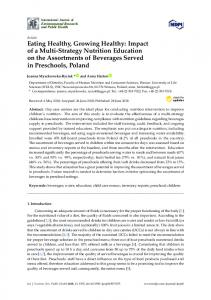 Eating Healthy, Growing Healthy: Impact of a Multi-Strategy ... - MDPI