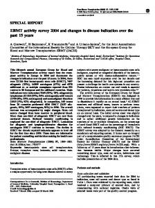 EBMT activity survey 2004 and changes in disease indication ... - Nature