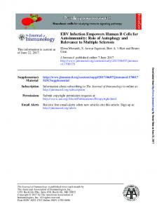EBV Infection Empowers Human B Cells for