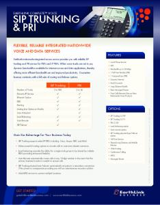 EC SIP Trunking and PRI - EarthLink Business