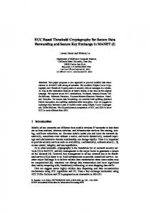 ECC Based Threshold Cryptography for Secure Data Forwarding and ...