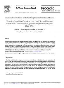 Eccentric Load Coefficient of Live Load Normal Stress ... - Science Direct