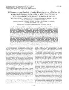 Echinococcus multilocularis - Antimicrobial Agents and Chemotherapy