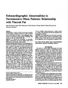Echocardiographic Abnormalities in ... - Wiley Online Library