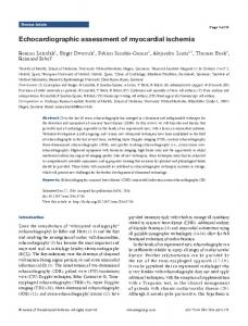 Echocardiographic assessment of myocardial ischemia - Annals of ...