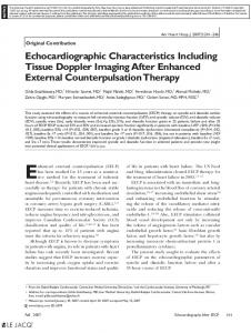 Echocardiographic Characteristics Including ... - Wiley Online Library